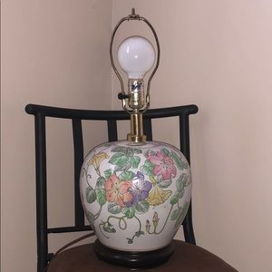 Other - Glass flowered lamp